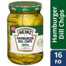 Heinz Hamburger Dill Chips Slices, 16 Ounces (12 Jars)